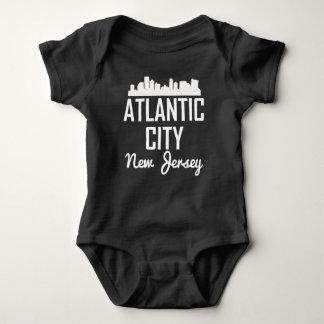 Atlantic City New Jersey Skyline Baby Bodysuit