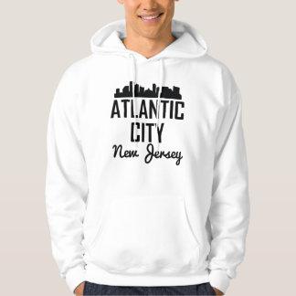 Atlantic City New Jersey Skyline Hoodie