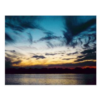 Atlantic City New Jersey Sunset Postcard