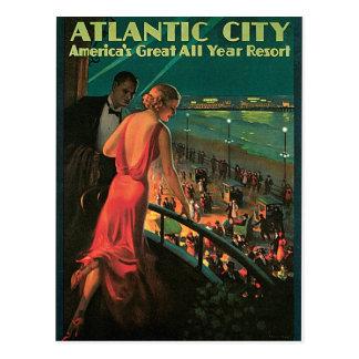 Atlantic City New Jersey Vintage Travel Postcard