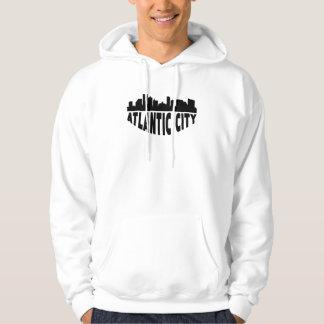 Atlantic City NJ Cityscape Skyline Hoodie