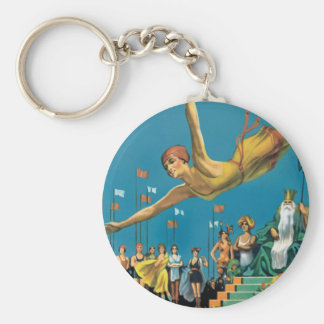 Atlantic City Pageant Basic Round Button Key Ring