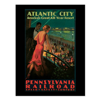 Atlantic City Pennsylvania Railroad Postcard