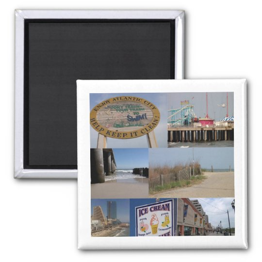Atlantic City Photo Collage Magnet