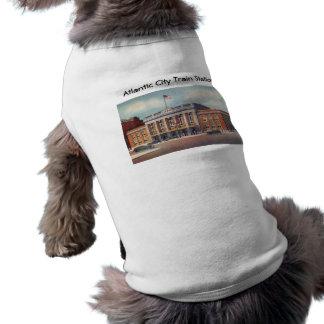 Atlantic City Train Station PRSL 1936 Sleeveless Dog Shirt