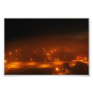 "Atlantic City Under Fog 4"" x 6"" Print"