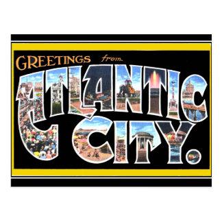 Atlantic city Vintage Postcard
