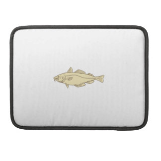 Atlantic Cod Fish Drawing Sleeve For MacBook Pro