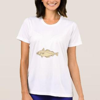 Atlantic Cod Fish Drawing T-Shirt