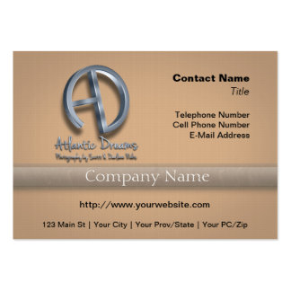 Atlantic Dreams 3D Logo Pack Of Chubby Business Cards