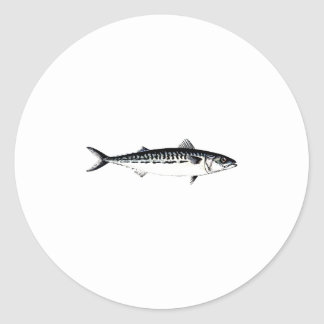 Atlantic Mackerel Logo Round Sticker