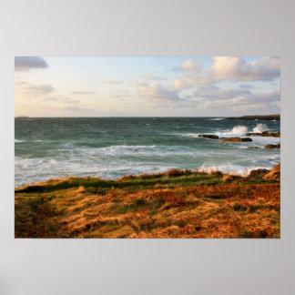 Atlantic Ocean in Newfoundland poster