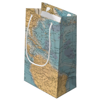 Atlantic Ocean Map Small Gift Bag