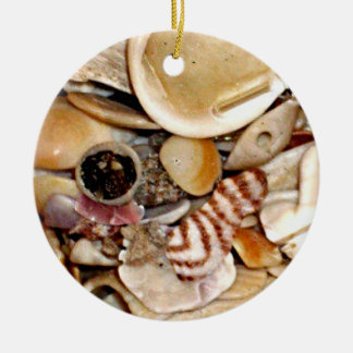 Atlantic Ocean Sea Shell Collection Round Ceramic Decoration