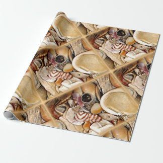 Atlantic Ocean Sea Shells Wrapping Paper