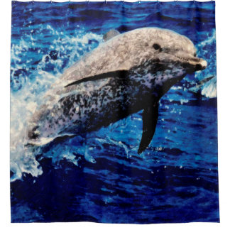 Atlantic Spotted Dolphin Shower Curtain