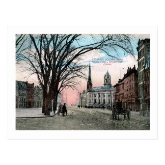 Atlantic Square, Stamford, CT Vintage Postcard
