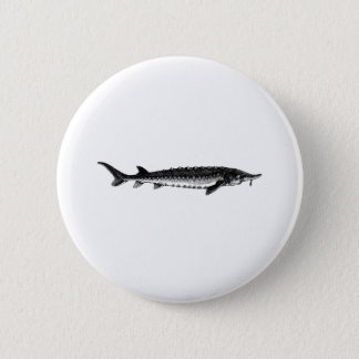 Atlantic Sturgeon 6 Cm Round Badge