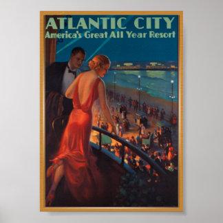 Atlantic Vintage Travel Poster