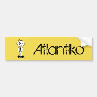 Atlantiko Black Bumper Sticker