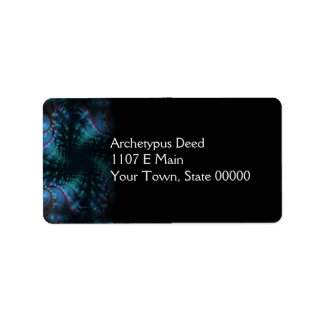 Atlantis Abstrct Digital Fractal Address Label