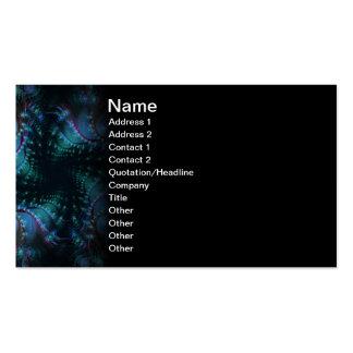 Atlantis Abstrct Digital Fractal Business Card Template