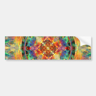 Atlantis-Inspired Rainbow Mandala Sacred Geometry Bumper Sticker