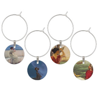 Atlantis On the Shores of Forever Wine Charms