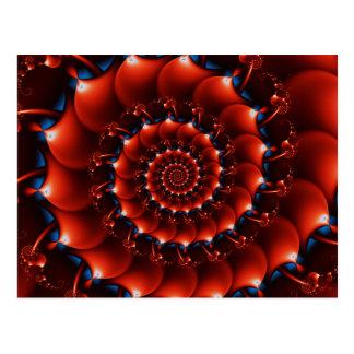 Atlantis seashell (orange) postcard
