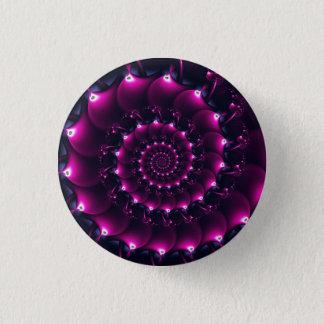 Atlantis seashell (purple) 3 cm round badge