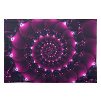 Atlantis seashell (purple) placemats
