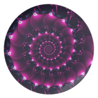 Atlantis seashell (purple) dinner plates