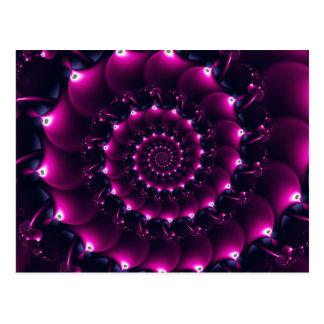 Atlantis seashell (purple) postcard