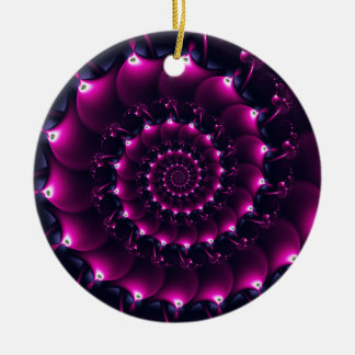 Atlantis seashell (purple) round ceramic decoration