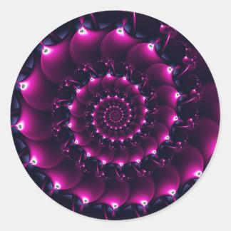 Atlantis seashell (purple) round sticker