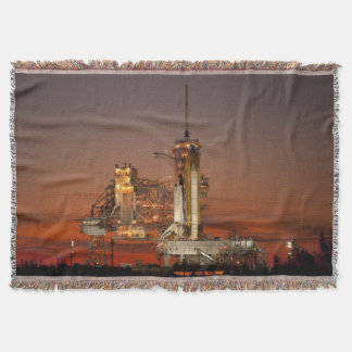 Atlantis Space Shuttle launch NASA Throw Blanket