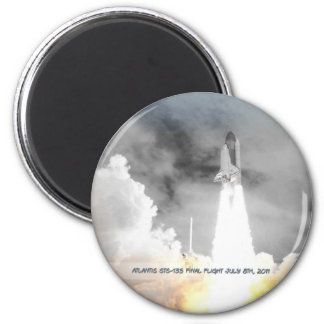 Atlantis Space Shuttle STS-135 Last Flight Magnet