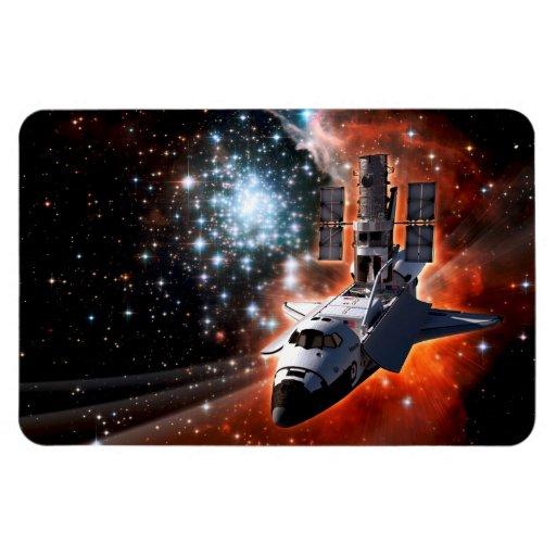 Atlantis with Hubble Rectangular Magnet