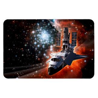 Atlantis with Hubble Rectangular Photo Magnet