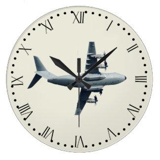Atlas A400M Aircraft - 1 Large Clock