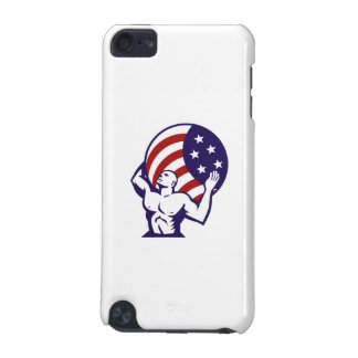Atlas Carrying Globe USA Flag Retro iPod Touch (5th Generation) Case