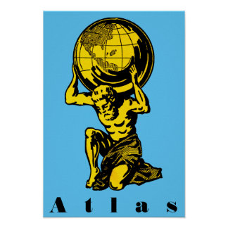 Atlas Greek Mythology Inspirational Poster