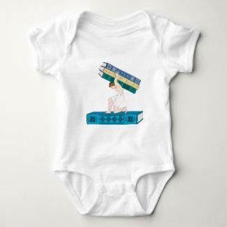 Atlas Holding Stack of Books Baby Bodysuit