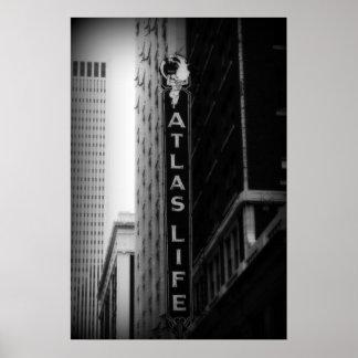 Atlas Life, Tulsa, Oklahoma. Derrick W. Black Poster