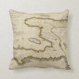 Atlas Map of Haiti Throw Pillow