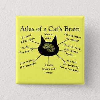 Atlas Of a Cat's Brain 15 Cm Square Badge
