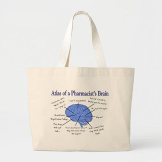 Atlas Of A Pharmacist's Brain-Hilarious Jumbo Tote Bag