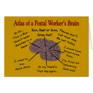 Atlas of a Postal Worker's Brain Greeting Cards