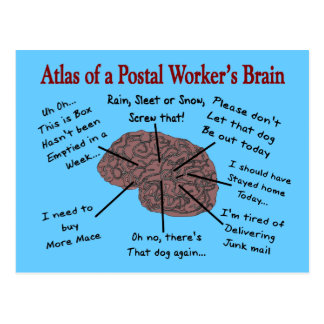 Atlas of a Postal Worker's Brain Post Cards
