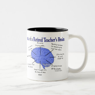 Atlas of a Retired Teacher's Brain Gfits Two-Tone Coffee Mug